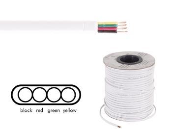 C ble t l phonique plat 4x0 08mm blanc for Cable telephonique exterieur