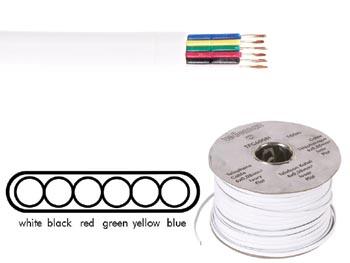 C ble t l phonique plat 6x0 08mm blanc for Cable telephonique exterieur