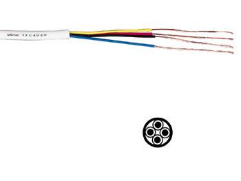 C ble t l phonique rond 4x0 20mm blanc for Cable telephonique exterieur