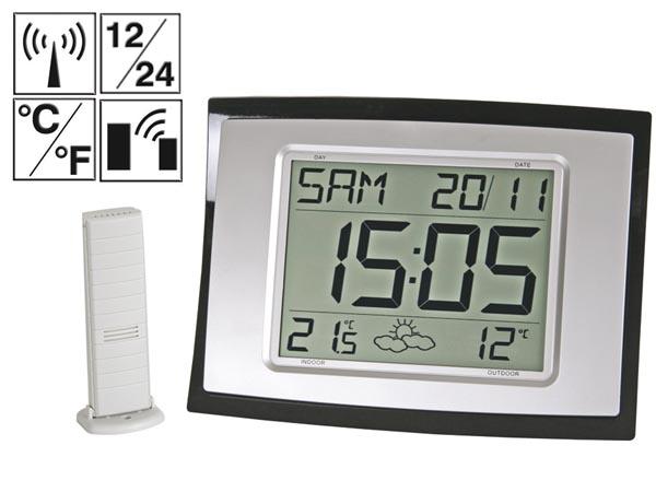 Horloge m t o dcf sans fil - Horloge murale led sans fil ...