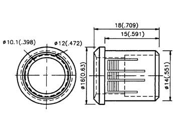 Dimensions du support pour led 10 mm