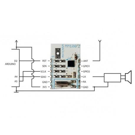 MM100 : Mini module récepteur FM RDS pour arduino