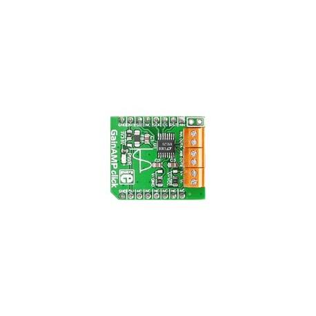MIKROE-2555 : GainAMP click - Amplificateur à gain programmable