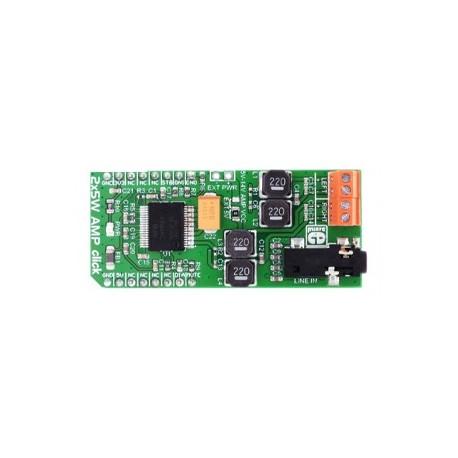 MIKROE-2477 : 2x5W AMP click - ampli 2 x 5 W - TDA7491LP