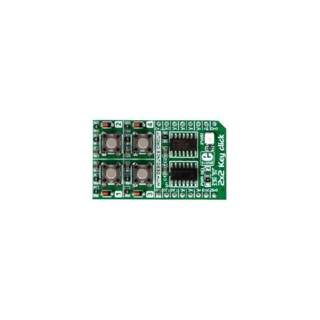 MIKROE-2152 : 2x2 Key click - 4 boutons avec anti-rebond