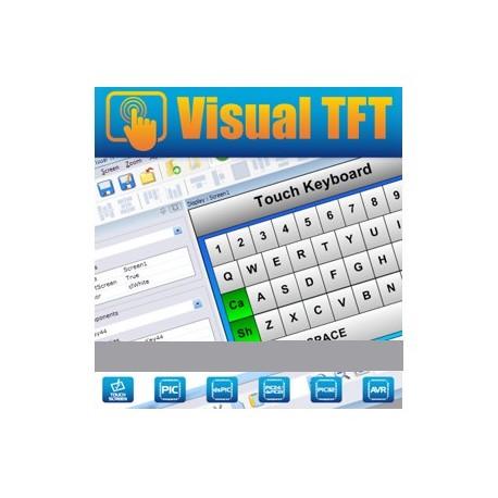Logiciel de développement Mikroelektronika Visual TFT pour écrans TFT