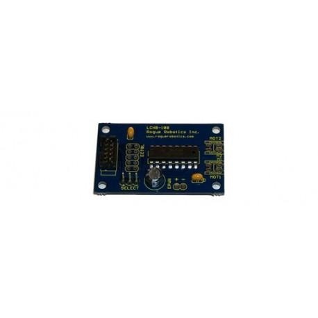 Platine double pont en H (1 A) pour commande moteur cc par arduino