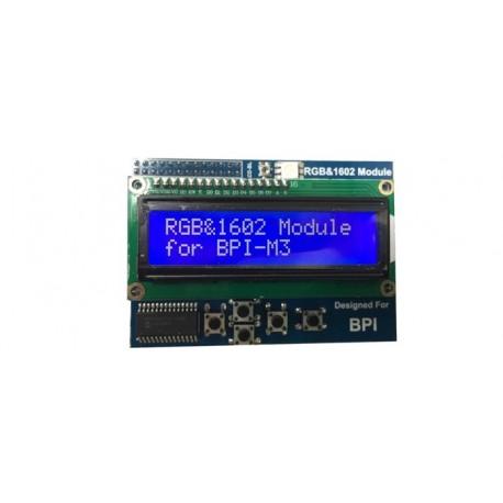 """Afficheur LCD alphanumérique """"BPI LCD1602"""" 2 x 16 car pour Raspberry 3"""