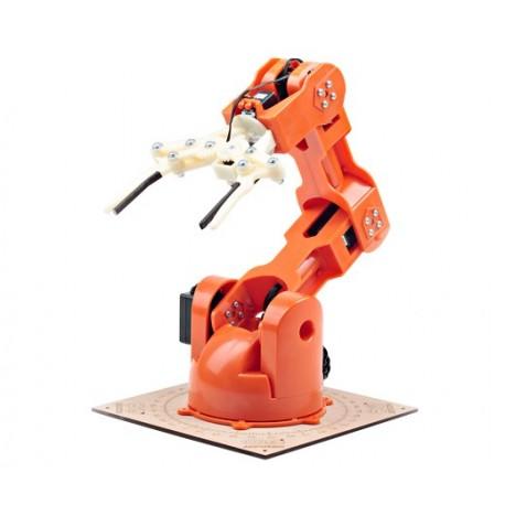 """T050000 Bras robotique """"Braccio"""" 5 axes avec pince pour arduino"""