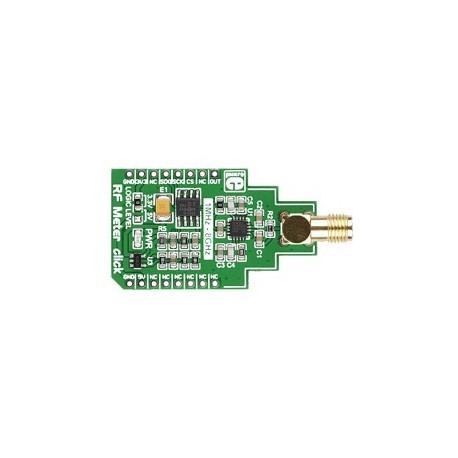 Module RF Meter Click avec ADA8318 + ADC MCP320 pour mesure radio
