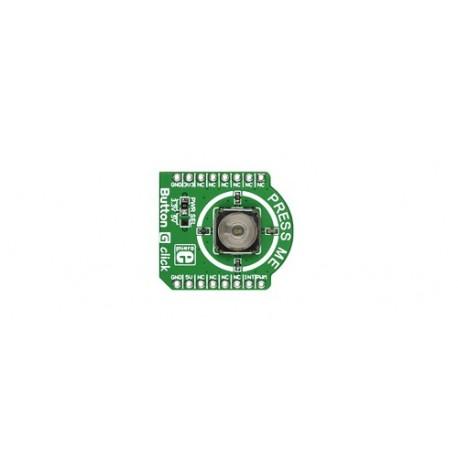 """MIKROE-2040 : """"Button G click - Bouton poussoir avec led verte"""