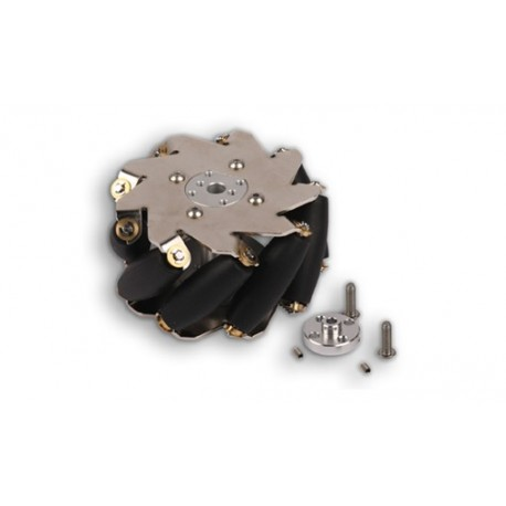 MAK87055 Roue à rouleaux omnidirectionnelle pour robot diamètre 100 mm
