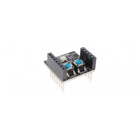 RFD22122 : RFduino - RGB-Button Shield (2 boutons + led RGB)