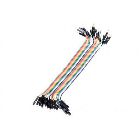 Jeu de 20 straps flexibles M-F (15 cm)