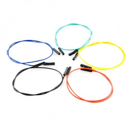 Jeu de 10 straps flexibles F-F (30 cm)