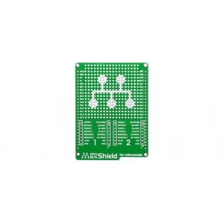 Platine mikroBUS Shield pour afficheur mikromedia et click Board