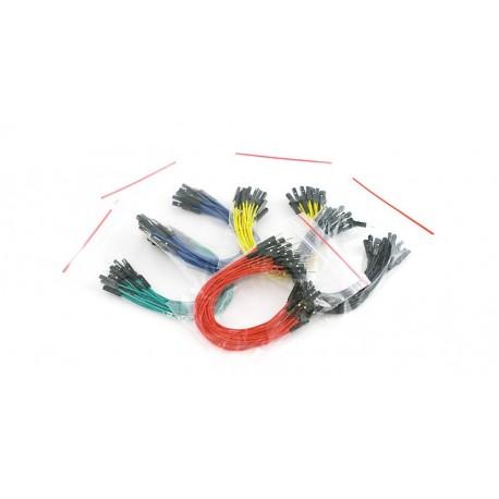 Jeu de 100 straps flexibles M-F (15 cm)