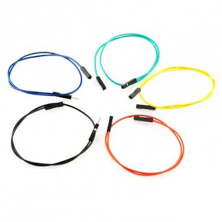 Jeu de 10 straps flexibles M-F (30 cm)