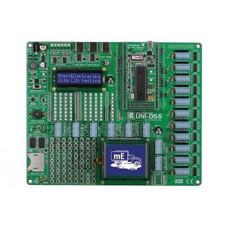 Starter-kit universel UNI-DS6 Mikroelektronika (PIC,AVR, 8051, dsPIC)