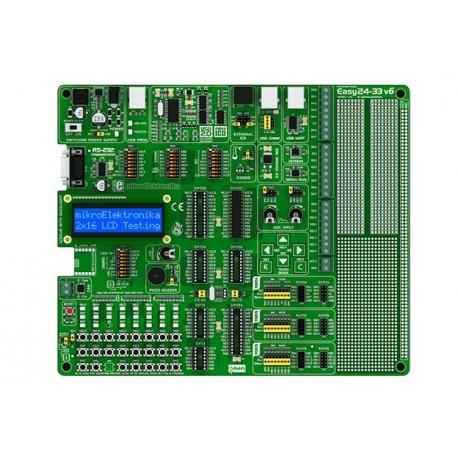"Starter-kit Mikroelektronika ""Easy24-33 V6"" pour PIC24 / dsPIC33"