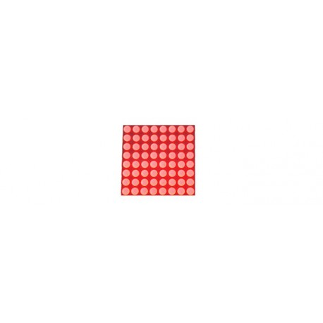 Matrice à leds 8 x 8 rouges (20 mm)