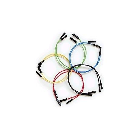 Jeu de 10 straps flexibles F/F (15 cm)