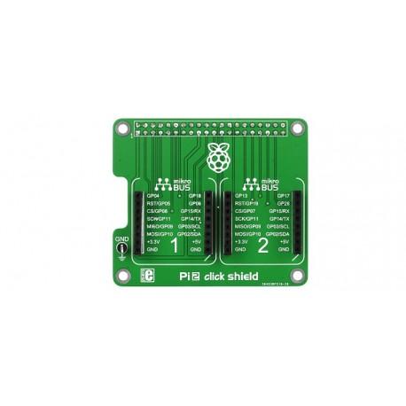 Platine d'extension mikroBUS Click Board pour Raspberry Pi B+/2/3