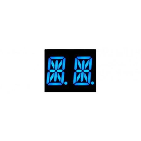 Afficheur 2 x 16 segments alphanumériques bleus