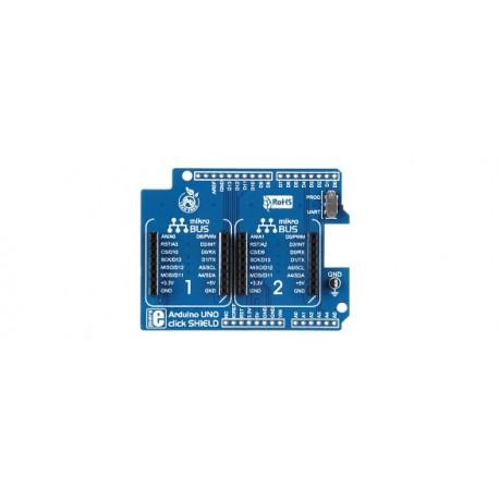 Shield Mikroelektronika Click Board pour arduino Uno