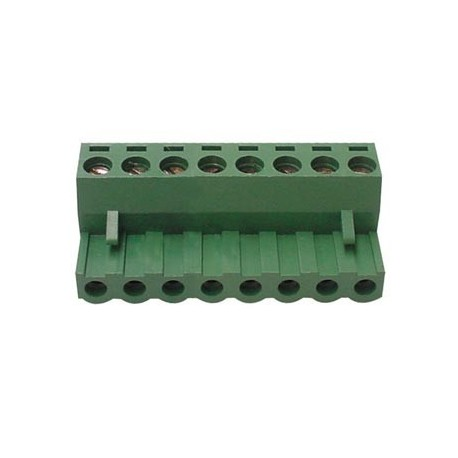 Bornier embrochable 8 plots (pas 5 mm)