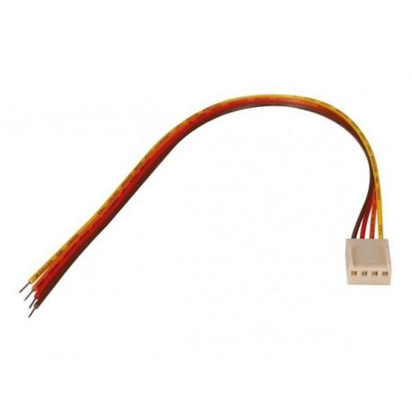 Connecteur femelle avec câble 4 contacts