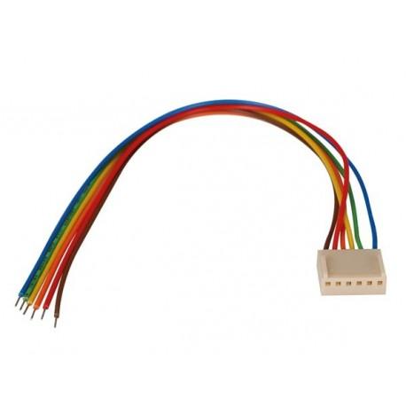Connecteur femelle avec câble 6 contacts