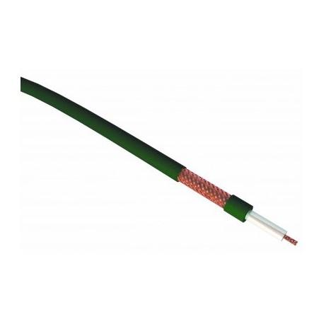 Câble coaxial vert 75 ohms - 6,2 mm