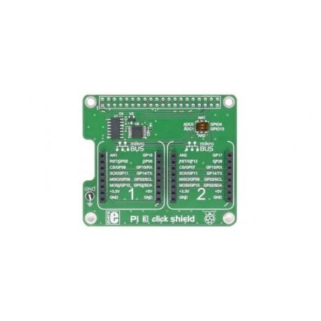 MIKORE-2756 Platine Pi3 click shield pour raspberry Pi3 et click board