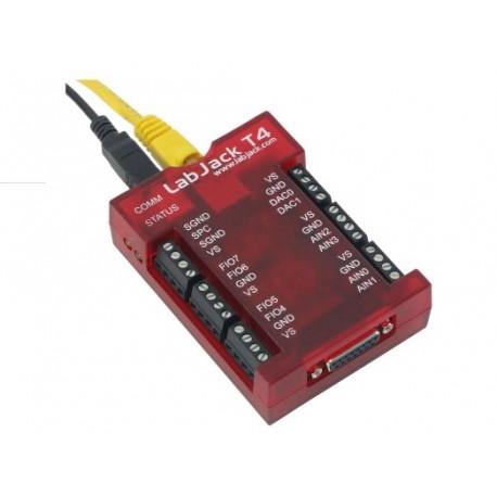"""LBU-T4 Boitier d'acquisition multifonction """"LabJack T4"""" USB Ethernet"""