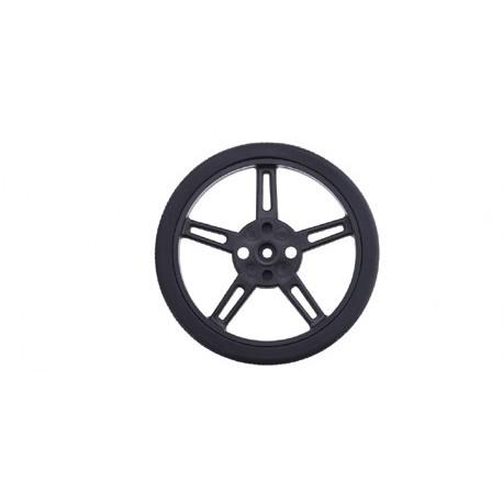 FS5103R-W : Roue (70 mm) pour servomoteur à rotation continu