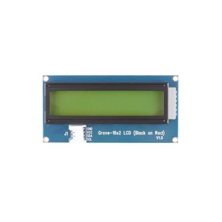 Module Grove Afficheur LCD 2x16 (noir sur rouge) 104020112 pour Arduino