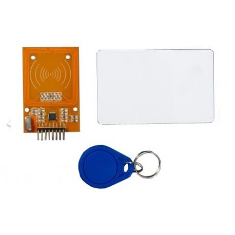 Module lecteur RFID 13.56 MHz  + 2 TAG Mifare® pour arduino