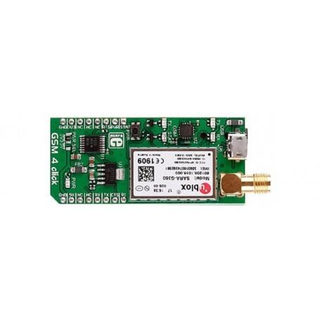 Module GSM4 Click Board sur base SARA-G350 (GSM/GPRS)