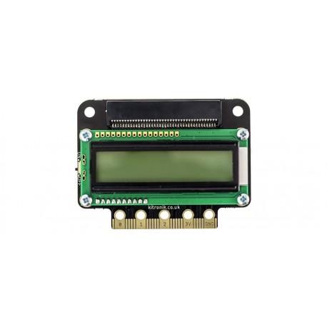 Afficheur LCD :VIEW text32 Kitronic 5650 pour carte micro:bit