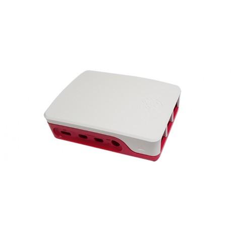 Boitier plastique blanc framboise Officiel pour Raspberry Pi 4