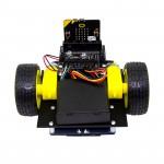 Vue avant de la base robotique Buggy suiveur de ligne Kitronik 5638 pour micro:bit