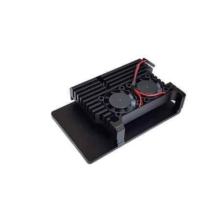 Boîtier dissipateur ventilé RB-AlucaseP4+07Fan pour Raspberry Pi 4
