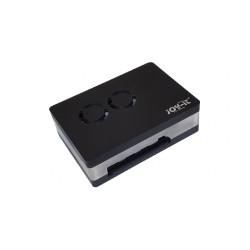 Boitier Joy-it RB-CASEP4+03B à fermeture sans vis pour Raspberry Pi 4