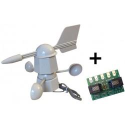 Anémomètre/girouette avec interface Grove PACK-GR007