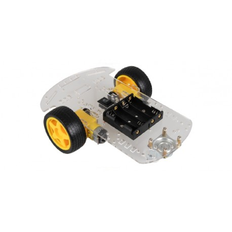 """ROB-OL1 Base robotique """"OL1"""" roulante (2 roues) pour arduino et STEM"""