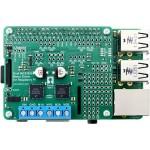 Vue du shield Dual MC33926 Motor Driver + raspberry Pi