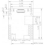 Dimensions de l' OpenMV Cam H7 Plus