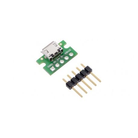 Platine d'adaptation micro-USB B