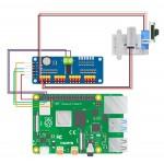 Raccordement de la platine de pilotage PWM avec le support ARduCam Pan Tilt et une Raspberry Pi